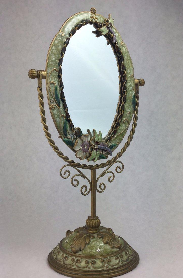 Contemporary Vanity Mirror with Crystals