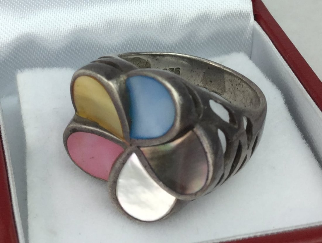 925 Sterling Multi Colored Ring