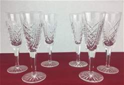 WATERFORD 6 Cut Crystal Stems 7 14