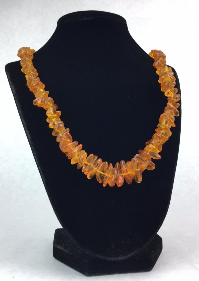 Vintage Amber Stacked Necklace