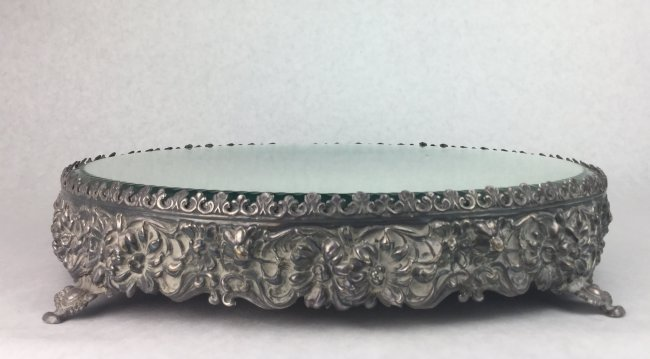Antique Silver Mirrored Plateau