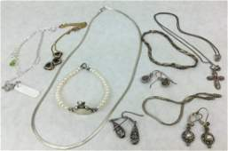 925 Sterling Silver Jewelry Grouping