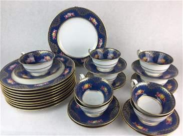 SPODE Copeland Rare Blue Porcelain Dinning Set