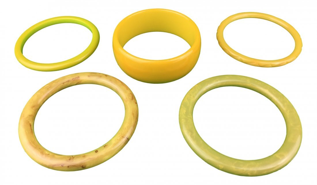 5 Vintage Bakelite Bracelets from Long Beach Estate - 2