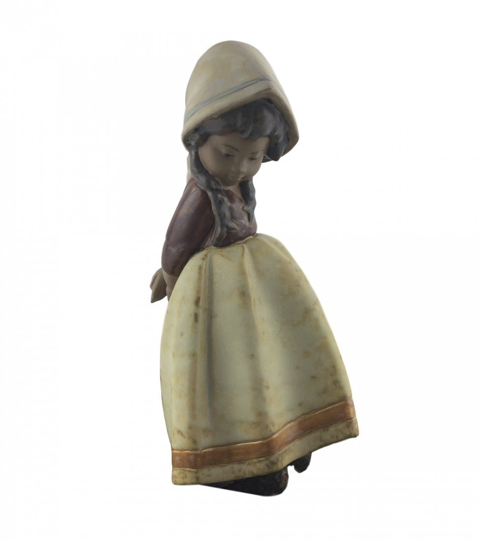 "Vintage Lladro 8 1/4"" Gril with Bonnet"