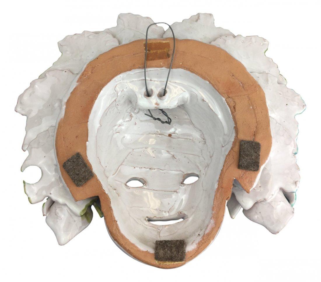Vintage Italian Majolica mask plaque - 2