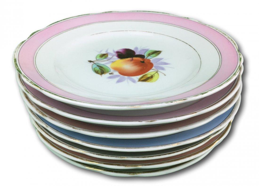 Hand Painted KPM Porcelain Fruit Plates