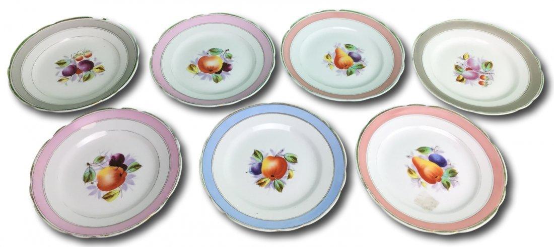 Hand Painted KPM Porcelain Fruit Plates - 2