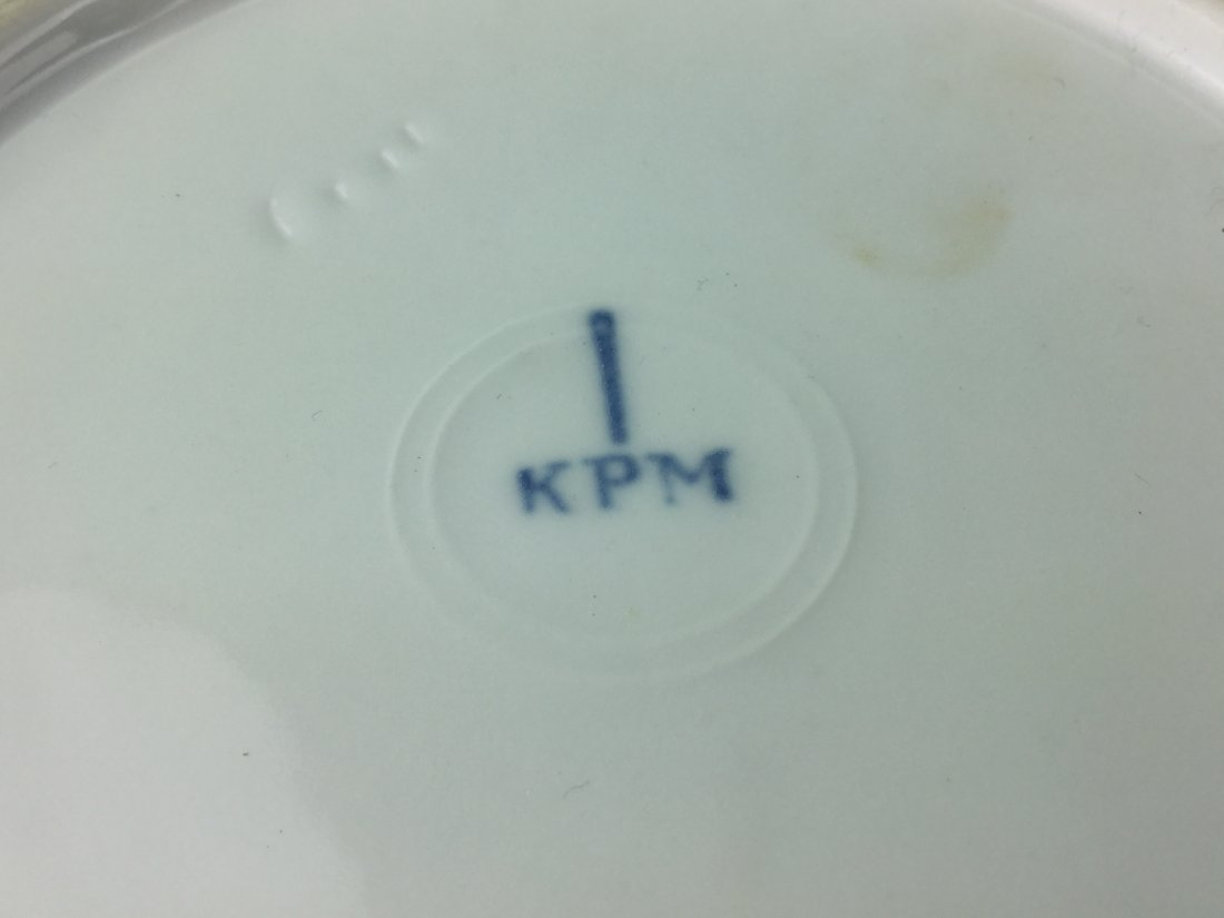 Hand Painted KPM Porcelain Fruit Plates - 3