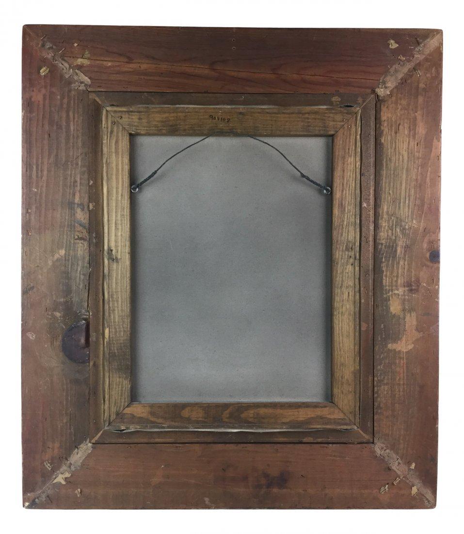 Victorian Toddler in Dress - Oil w/ heavy Ornate Frame - 2