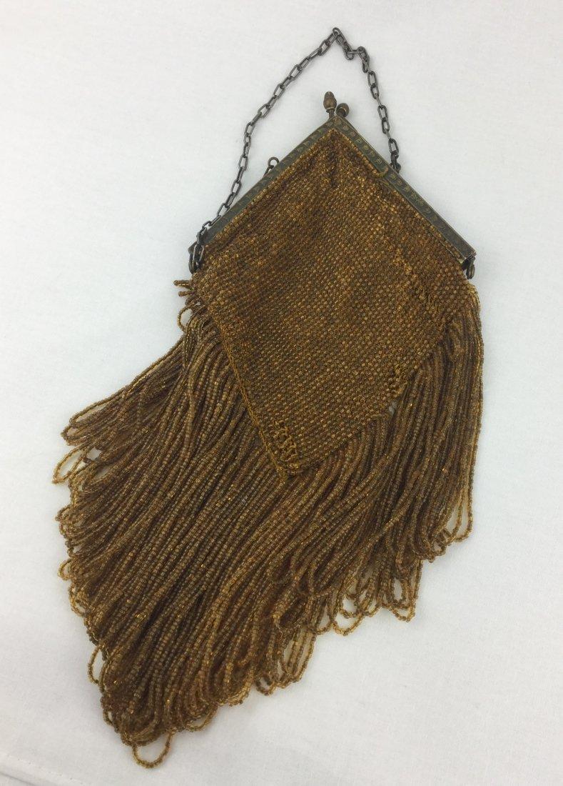 Victorian Amber Beaded Purse
