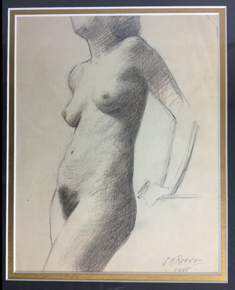 "J. Mason Reeves Pencil ""Nude"" 1935 - 2"