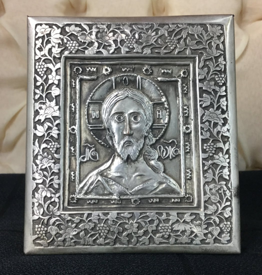 Silver Greek Orthodox Icon