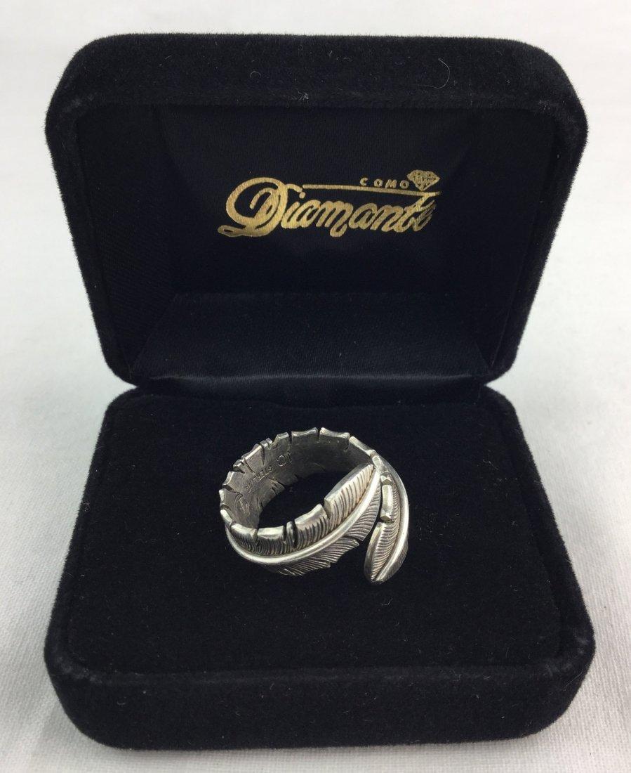 Signed Sterling Silver Leaf Ring