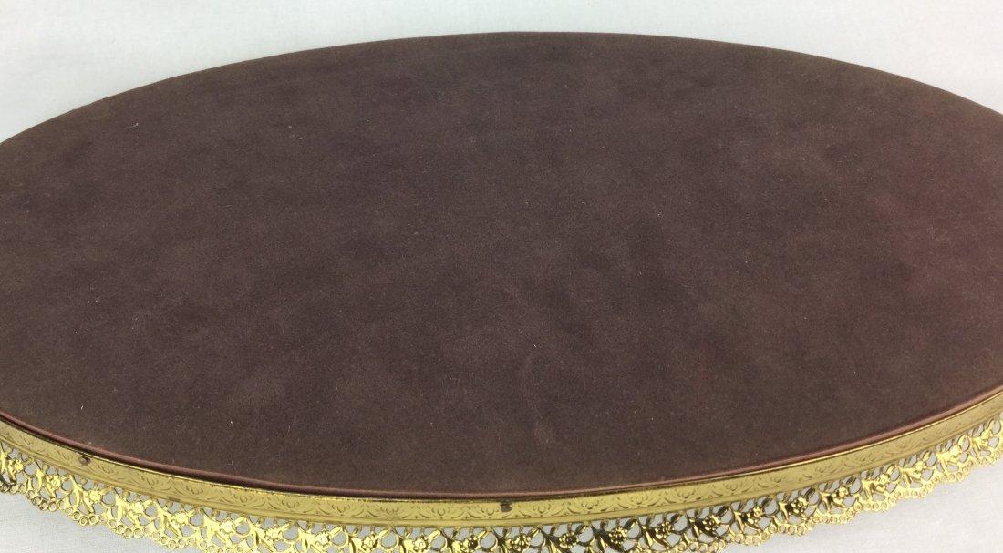Vintage Matson Gold Filigree Vanity Tray & Brush - 3