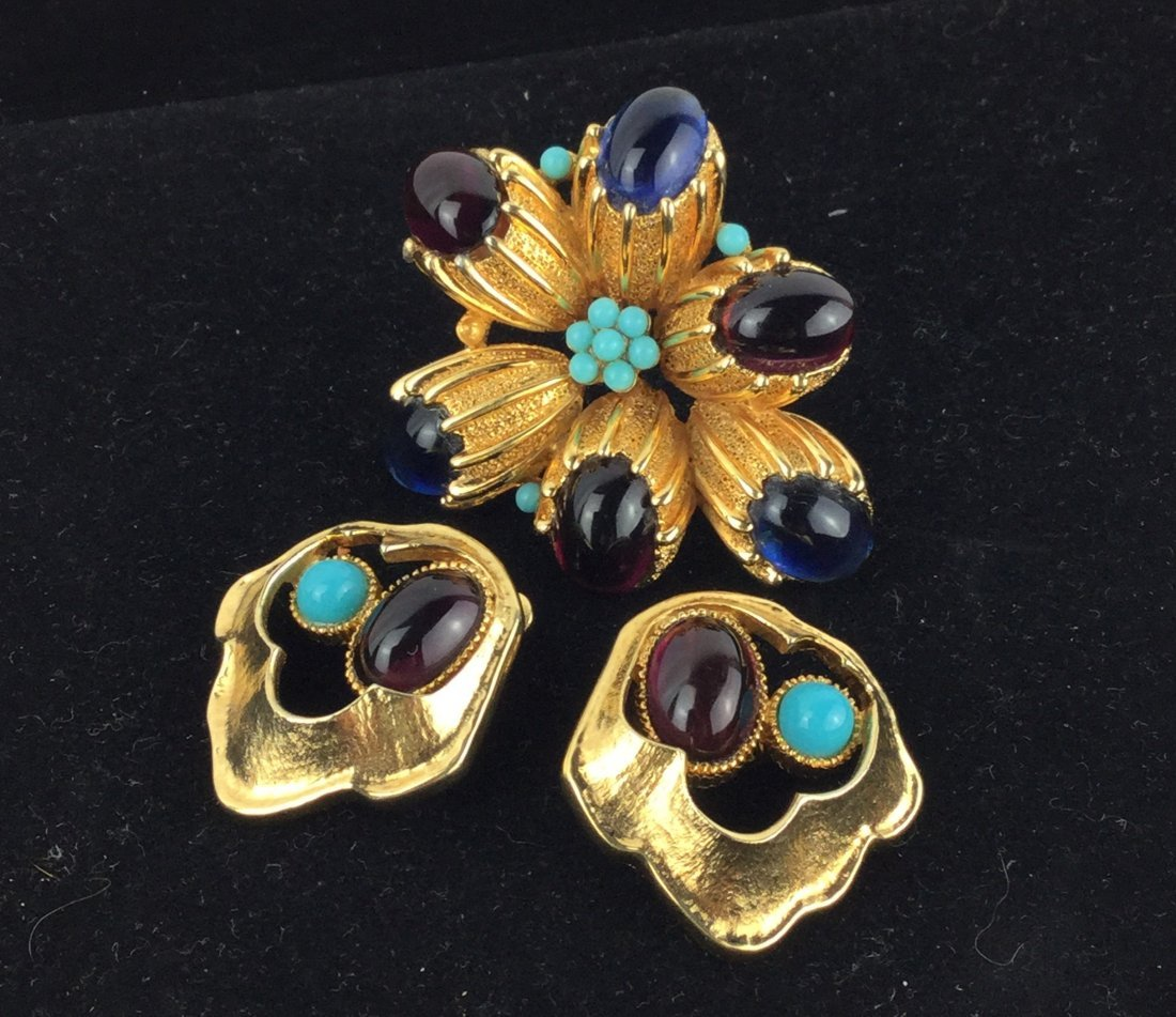 Vintage Jomaz Brooch & Earrings