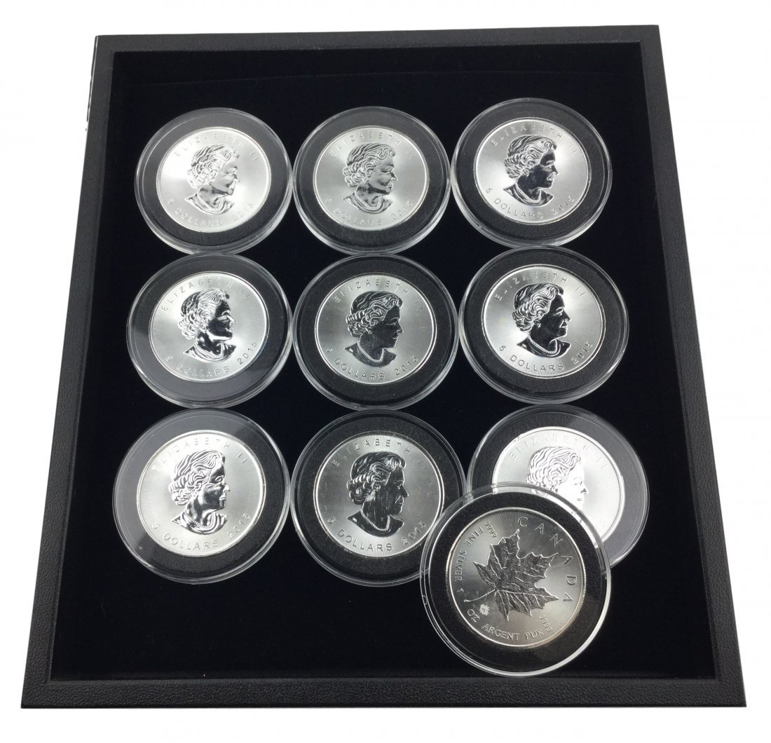 10 One Troy Ounce .999 Fine Silver Coins