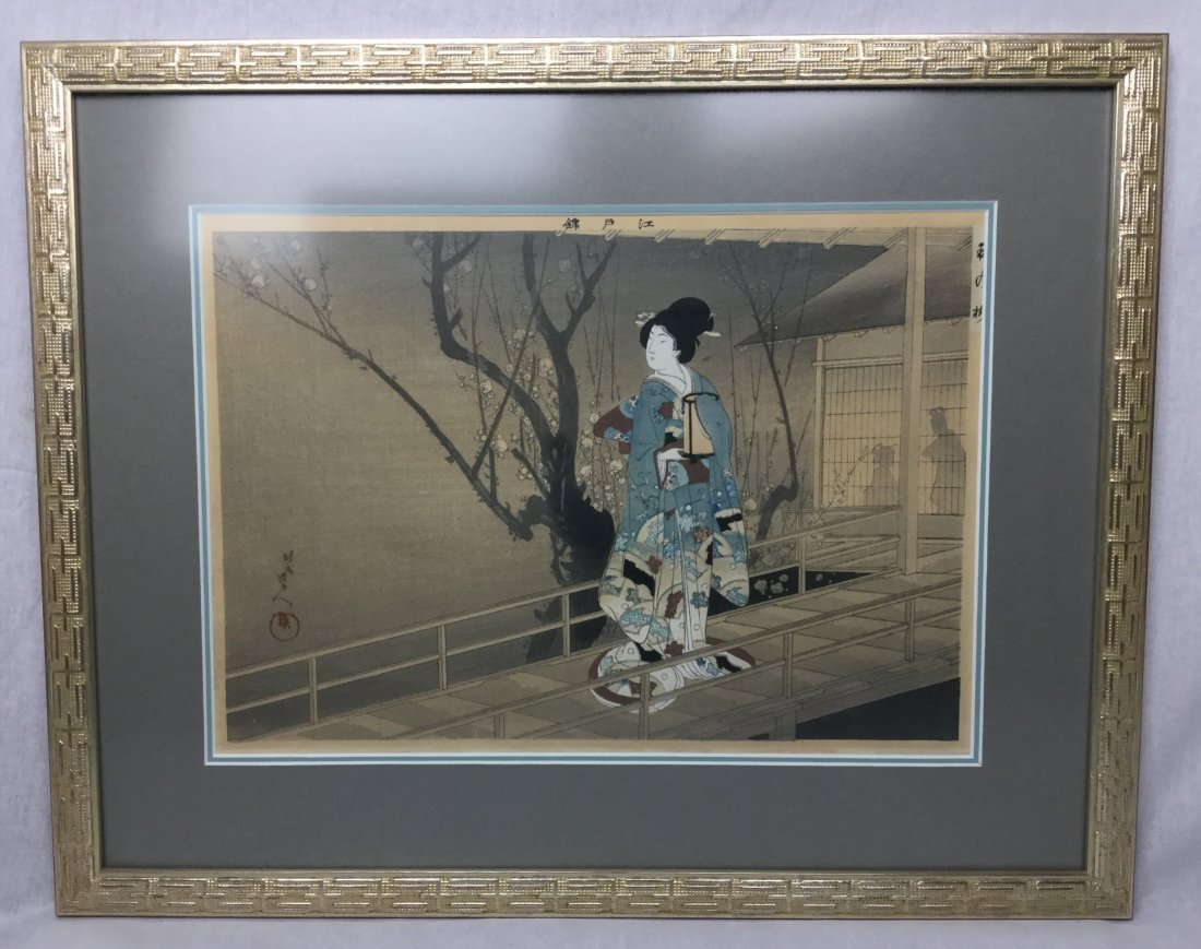 Edo Brocade Colored Block Print