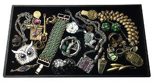 Costume Jewelry Lot with Signed Pieces