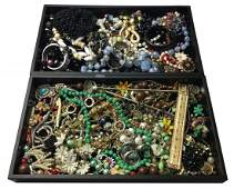 Large Costume Jewelry Lot Including Signed pcs