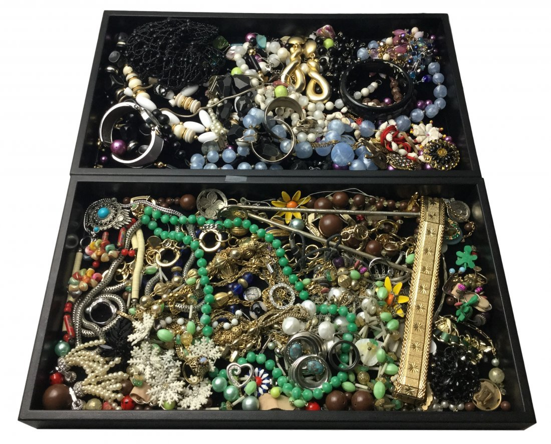 Large Costume Jewelry Lot Including Signed pcs.