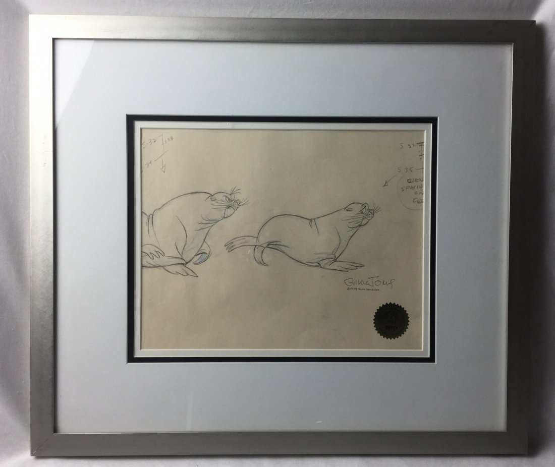 Chuck Jones Pencil art for Cell production