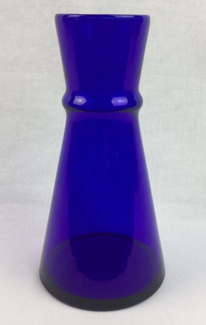 """Holmegaard Signed Cobalt Beaker Vase 7"""""""