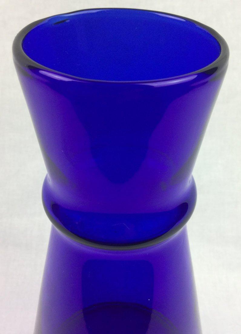 """Holmegaard Signed Cobalt Beaker Vase 7"""" - 3"""