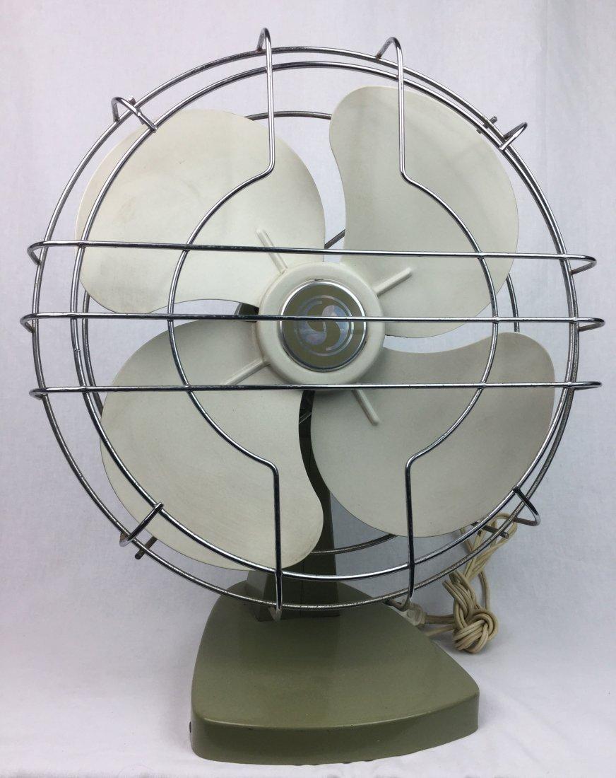 Mid Century Avocado Fan by Superior