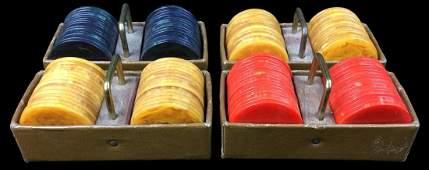 Vintage Bakelite Poker Chip Collection