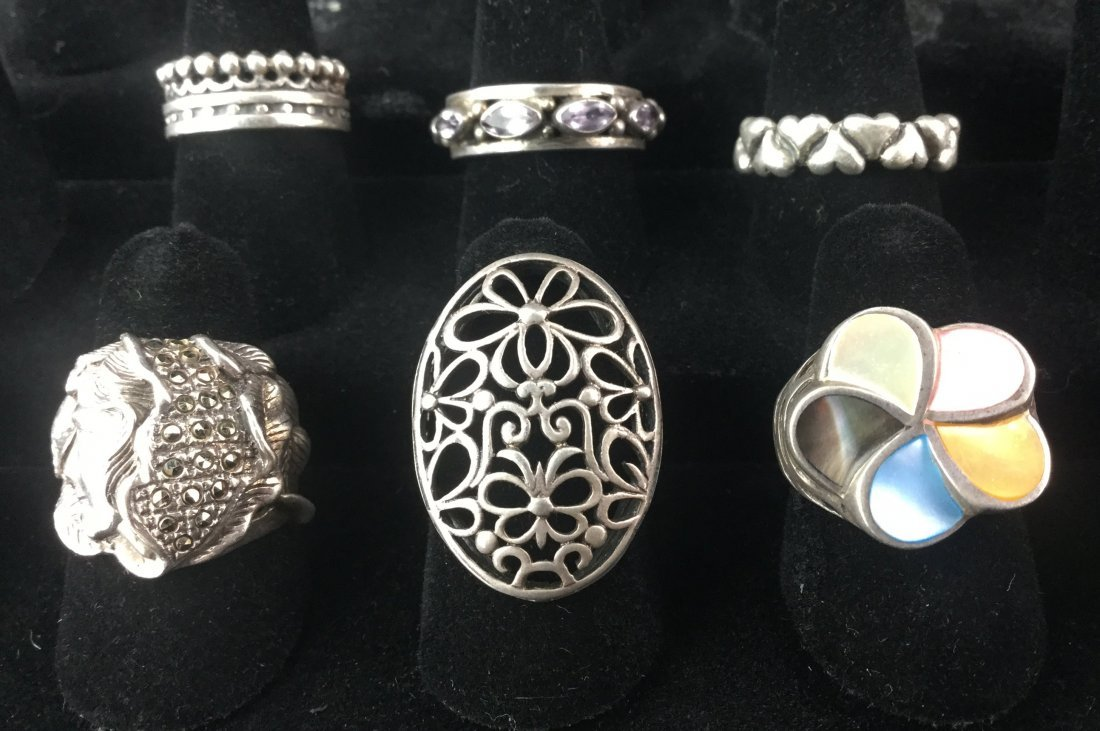 Designer Sterling Silver Ring Collection 49 Grams