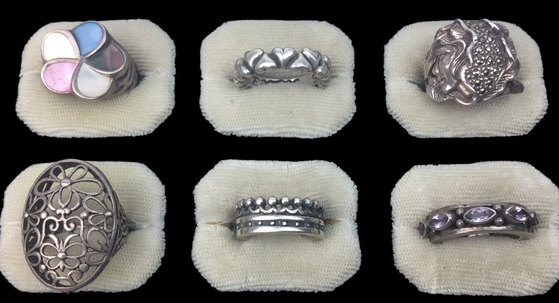 Designer Sterling Silver Ring Collection 49 Grams - 2