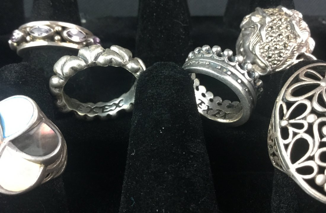 Designer Sterling Silver Ring Collection 49 Grams - 3