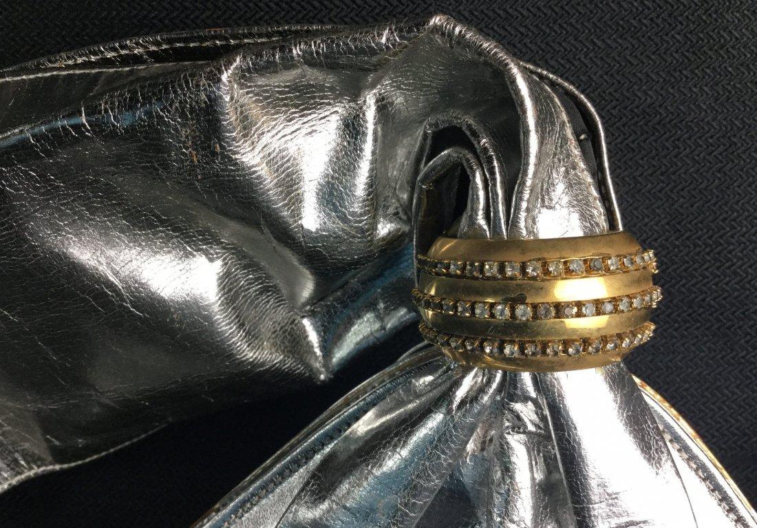Vintage Charles Jourdan Silver Purse with Rhinestones - 2