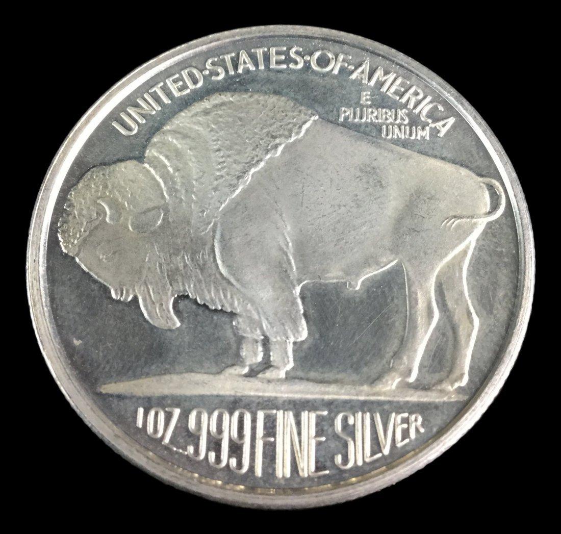 1 Troy Ounce .999 Fine Silver Buffalo 2014