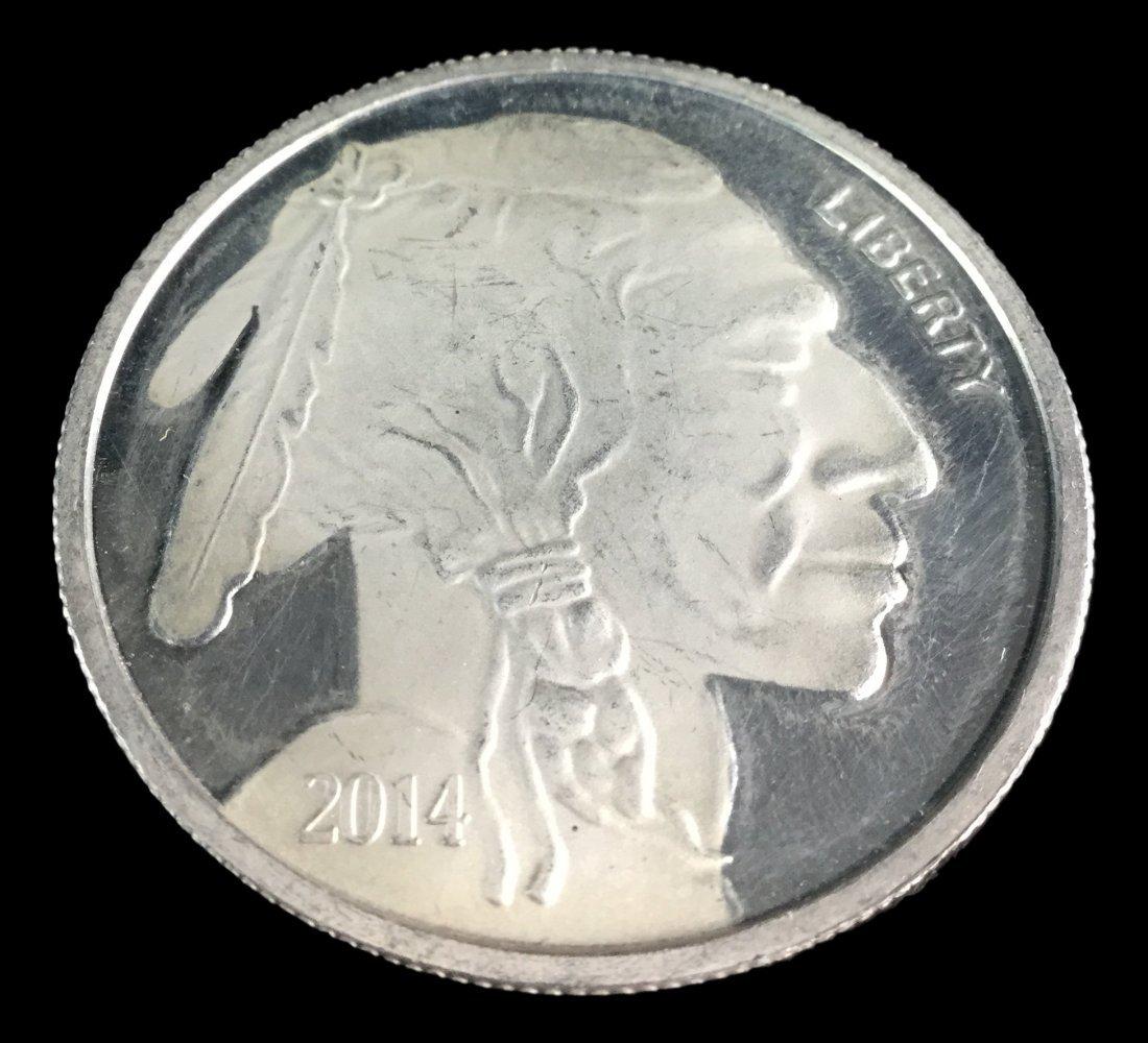 1 Troy Ounce .999 Fine Silver Buffalo 2014 - 2