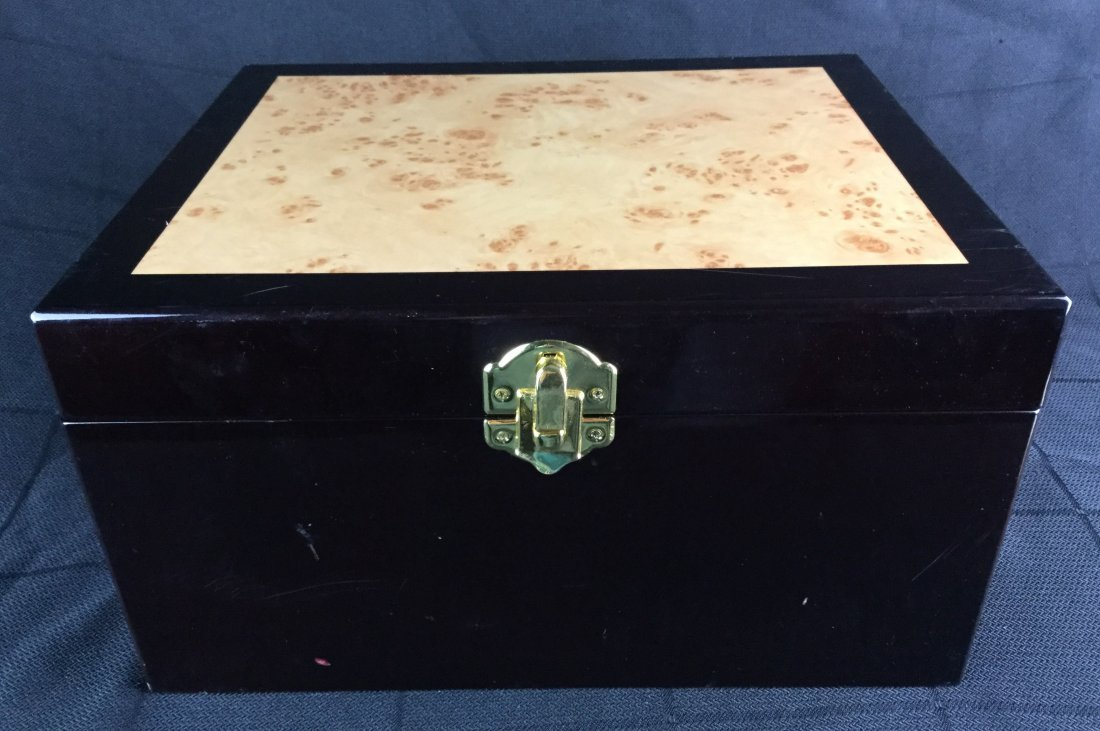Lacquer Jewelry Box filled with Vintage Match books - 3
