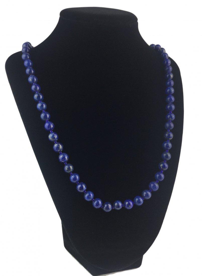 Fabulous Lapis Bead Necklace