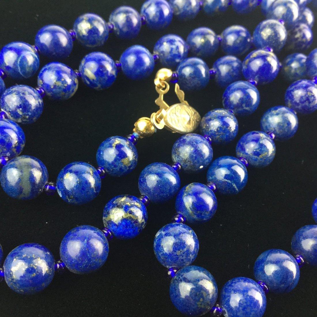 Fabulous Lapis Bead Necklace - 2