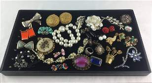 Vintage Estate Jewelry Lot with Signed Pieces