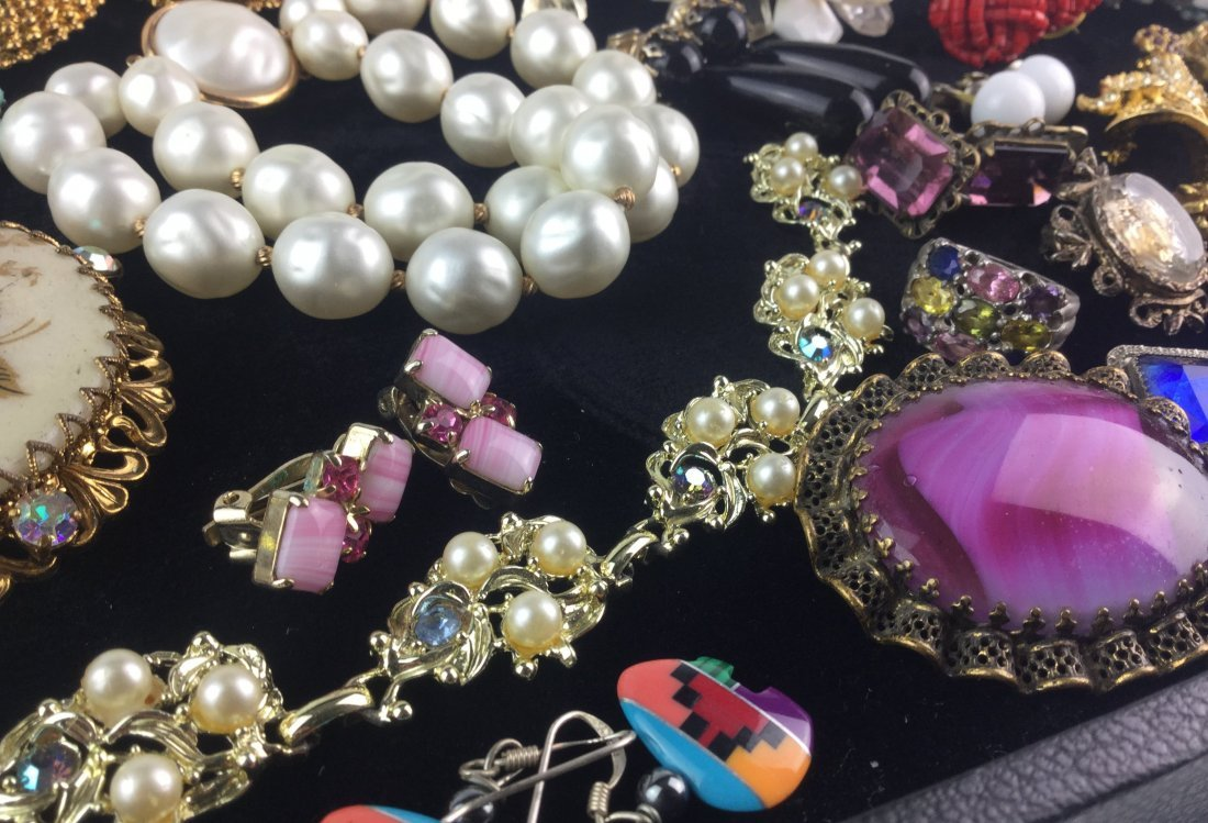Vintage Estate Jewelry Lot with Signed Pieces - 2
