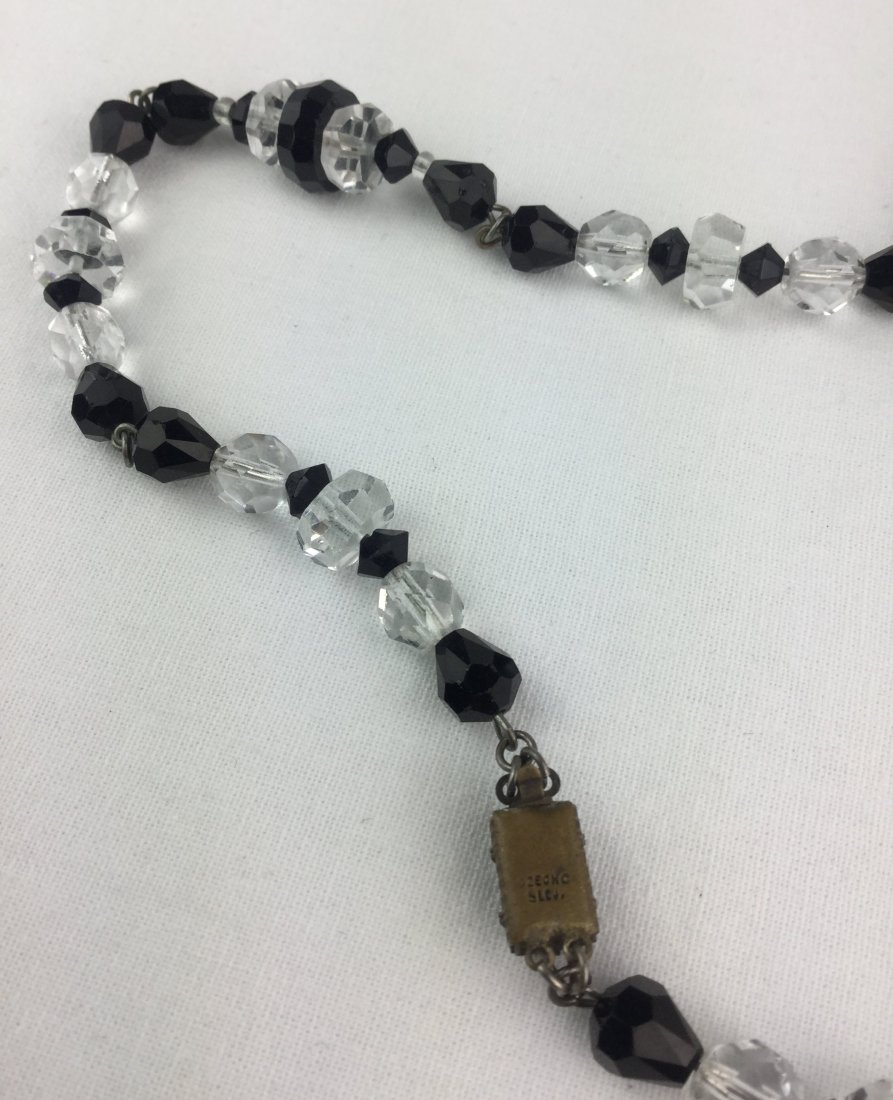 Vintage Czech Cut Crystal Necklace - 3