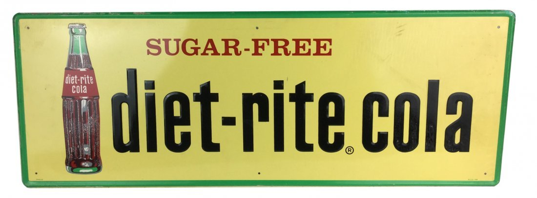 Rare 1960's Diet Rite Cola Sign