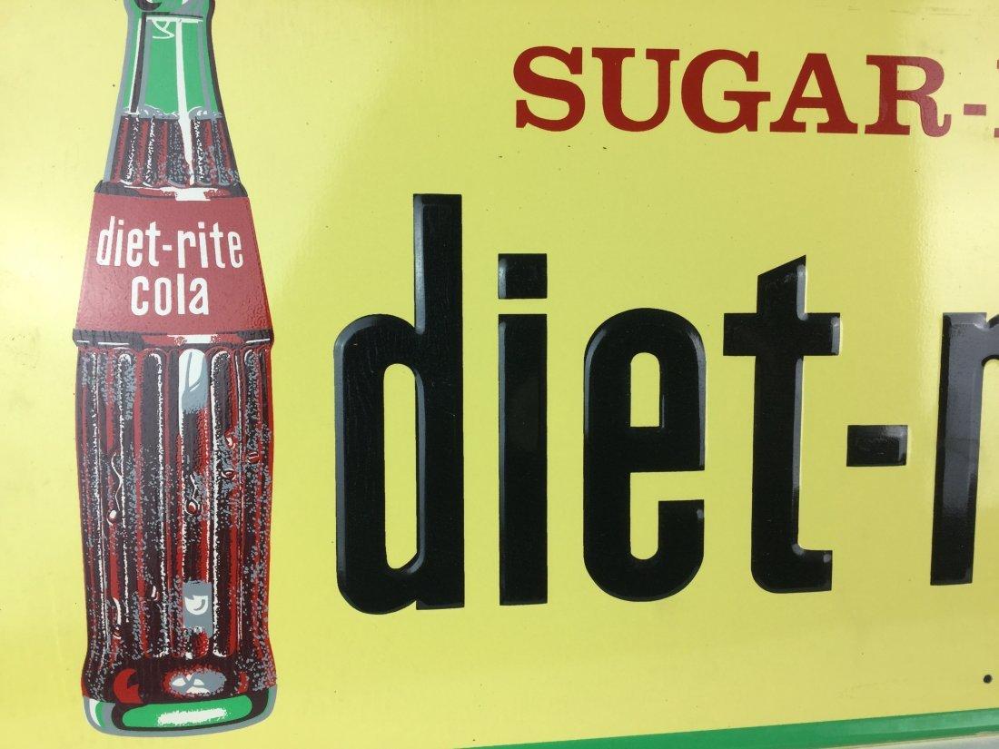 Rare 1960's Diet Rite Cola Sign - 2