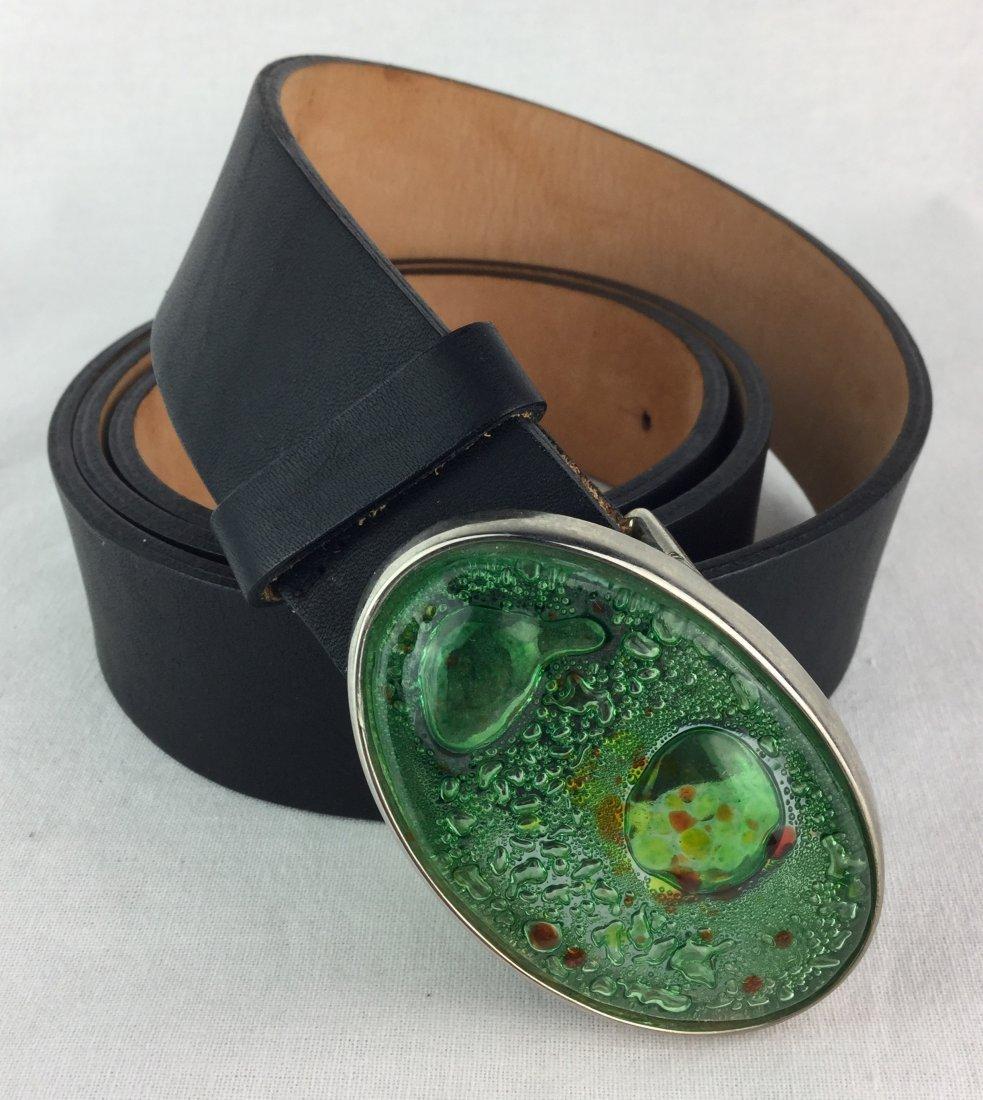 Amazing Qualheim Bollorini Italian Leather Belt