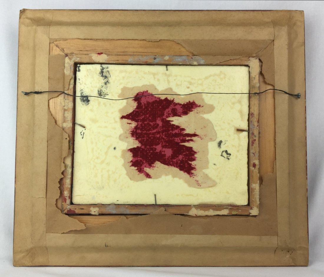 D. Teniers Pinx Porcelain Plaque with Ornate Frame - 3