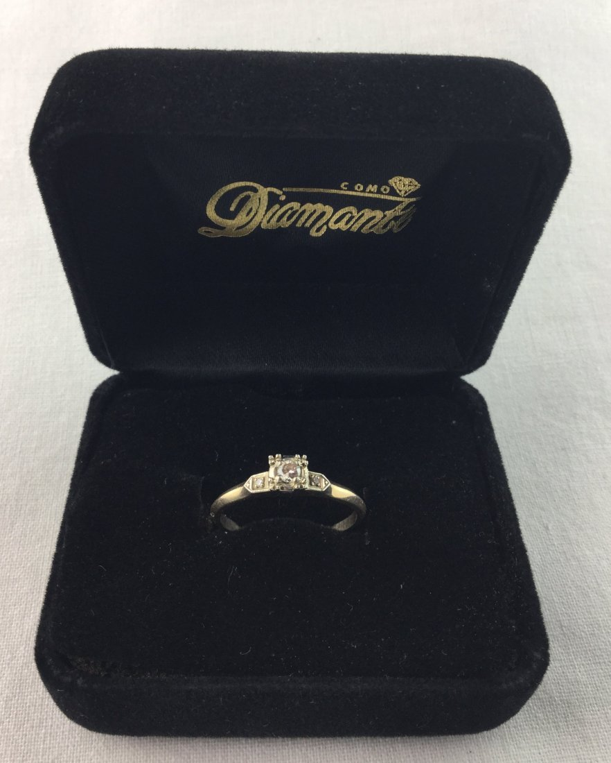 14 KT Gold Ring with .06 ct Diamonds 2.2 gm