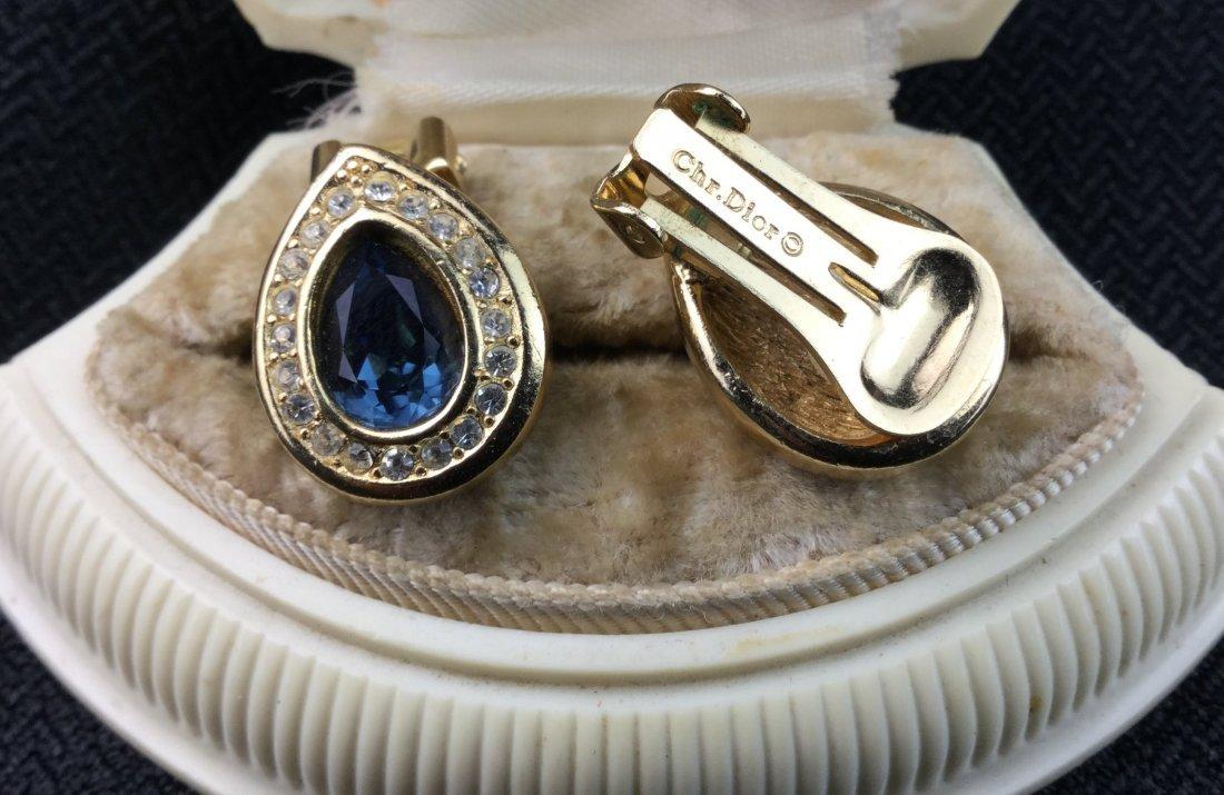Christian Dior Signed Topaz Earrings - 2