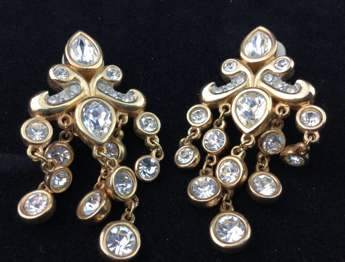 Swarovski Crystal Earrings Stamped