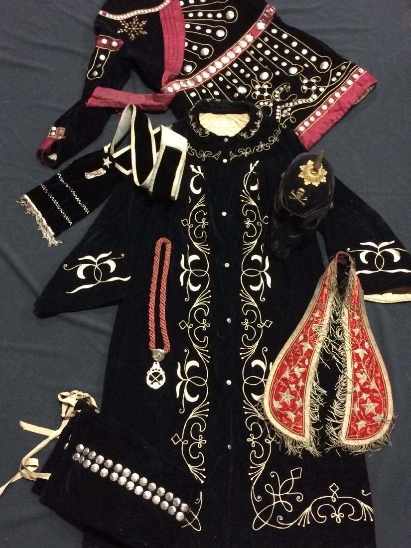 7 Pieces Black Odd Fellows Costume Clothing
